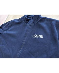 Embroidered fleece boat name
