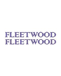 Fleetwood Sticker and Name  Caravan Stickers (Pair)
