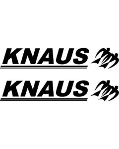 Knaus Front and Rear Graphic by Caravan Graphics