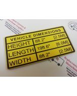 Engraved Vehicle Height Sign